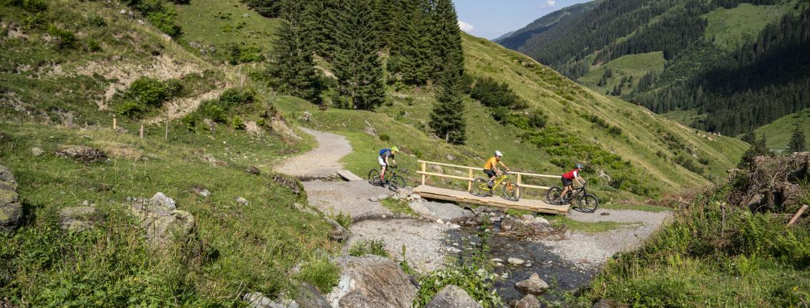 Sommer Berg Radfahren